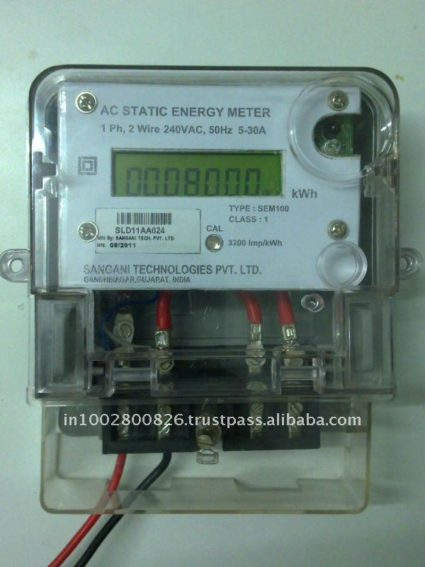 Single Phase Two Wire Static Energy Meter - WIRE Center •