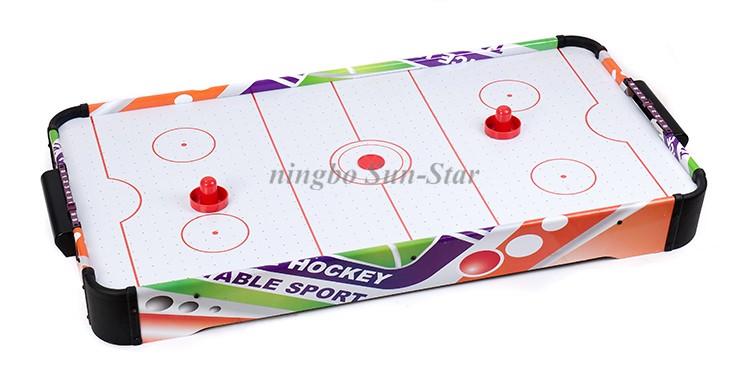 Eco vriendelijke houten kleurrijke mini pooltafel game air hockey