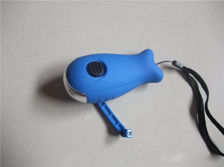 Led fisch geformt kinder mini handkurbel led taschenlampe buy