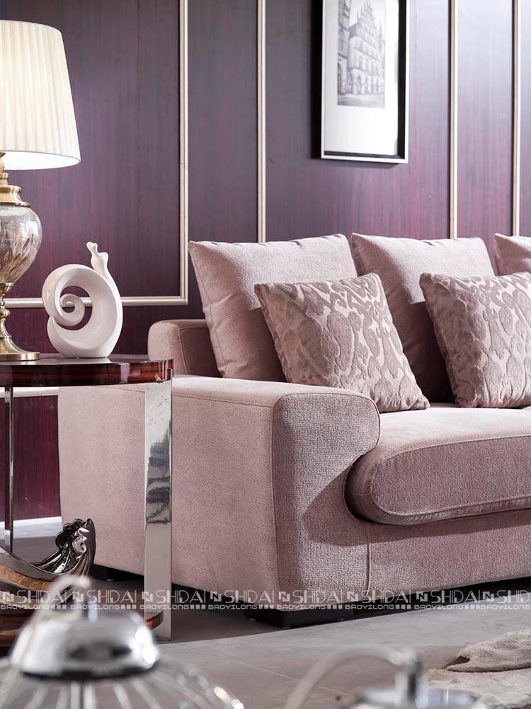 Worldwide no folded furniture fabric corner l shaped sofa set for living  room