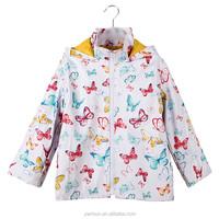 PUKR17005 2017 Kids PU Rain Jacket Children Outdoor Waterproof For 2-10 Y