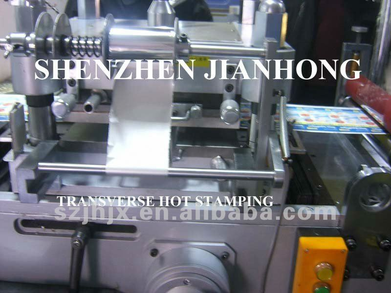 JH-360 Full Automatic Die Cutting Machine with transverse hot stamping