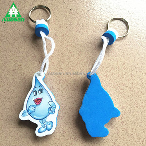 Wholesale Custom Water Saving Advertisement Zinc Alloy Floating Eva Key chain