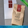 eco-friendly aluminum foil custom brown kraft laminated paper bag for tea/coffee packaging