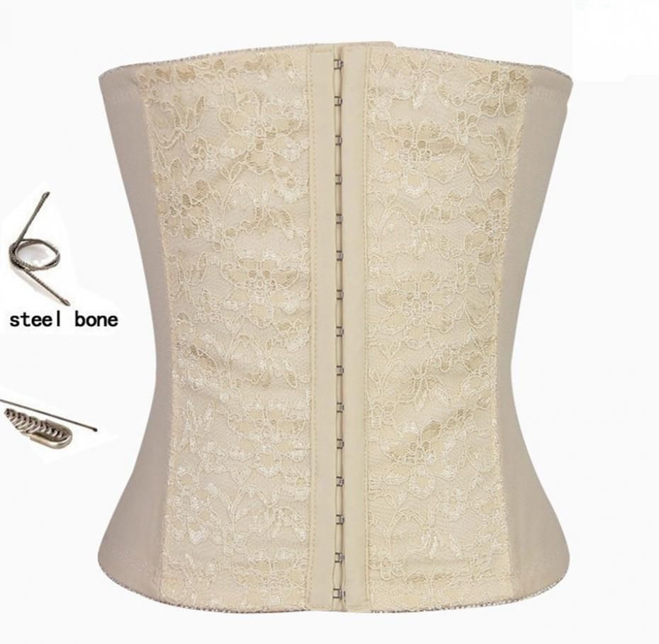 New 2015 Thin Shapers Steel Bone Waist Trainer Plus Size Women Slimming Body Shapers Lace Waist Training Tops and Bustier