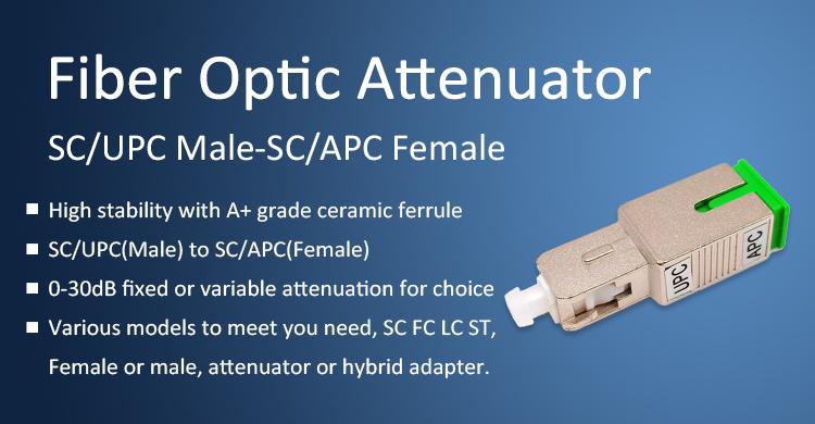 1 Piece SC UPC Male to ST UPC Female Optical Fiber Adapter Hybrid SM Single Mode