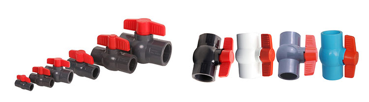 high quality wholesale customized plastic 20mm pvc ball valve for water plumbing