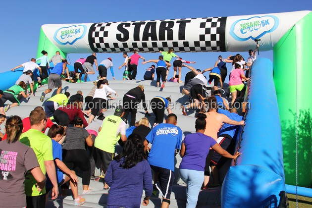 Hot Gaint Inflatable Obstacle Course Race , Inflatable Obstacle Course Series No.1 Starting Line