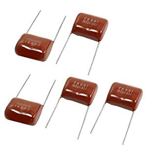 Water & Wood CBB81 1600V 0.018uF 5% Metallized Polypropylene Film Capacitors 5Pcs with Car Cleaning Cloth
