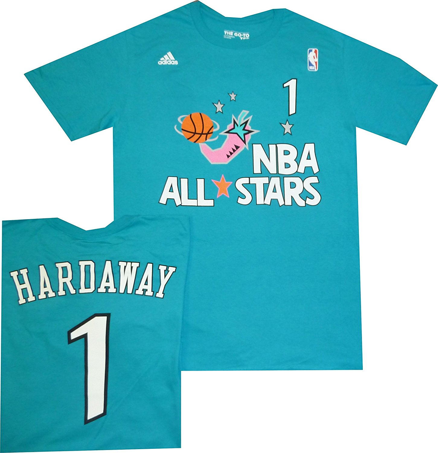 ffb3b176d1f Orlando Magic Anfernee Penny Hardaway All Star 1996 Teal Blue T Shirt 1996