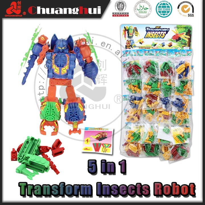 Transform Insects Robot Block Toy (can add candy)