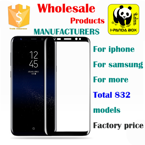IPANDA BOX D001 Wholesale price Hot 3D Full Cover Anti burst galaxy s8 edge tempered glass film screen protector s8