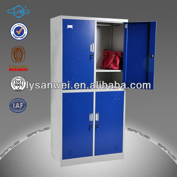 Hot selling glazed long use metal 2 tier clothing cabinet made in china