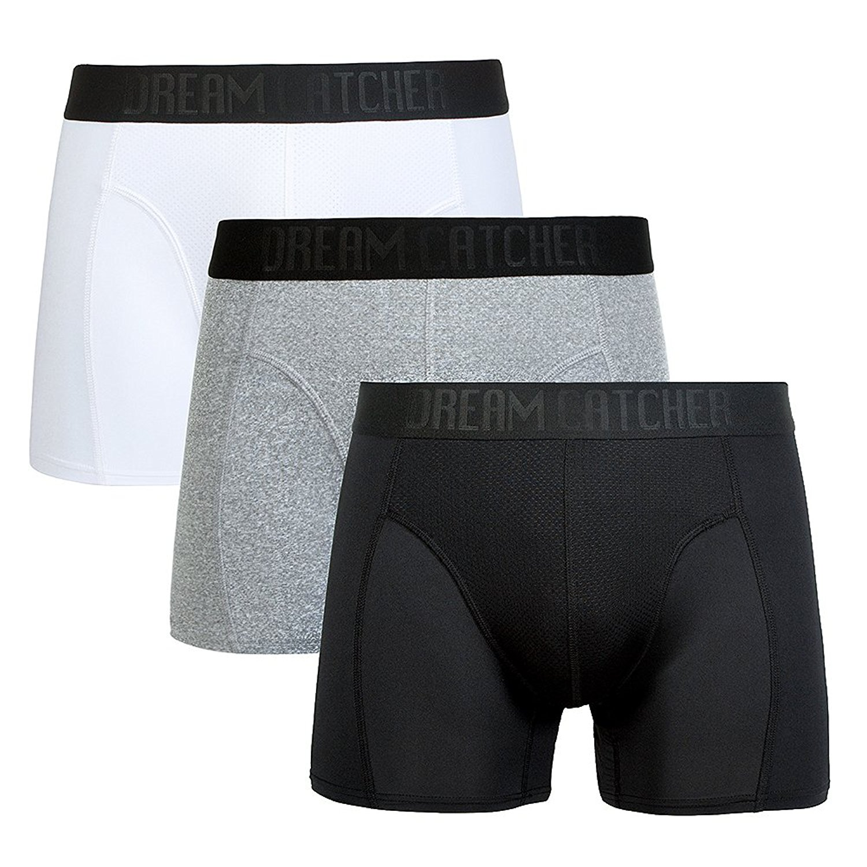 10ea129a6996d2 Get Quotations · Dream Catcher Sports Underwear Breathable Dri Fit Underwear  Mens Support Underwear Workout Underwear Athletic Boxer Briefs