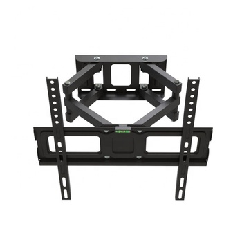 full motion tv bracket Black Universal 180 degrees swivel tv wall mount