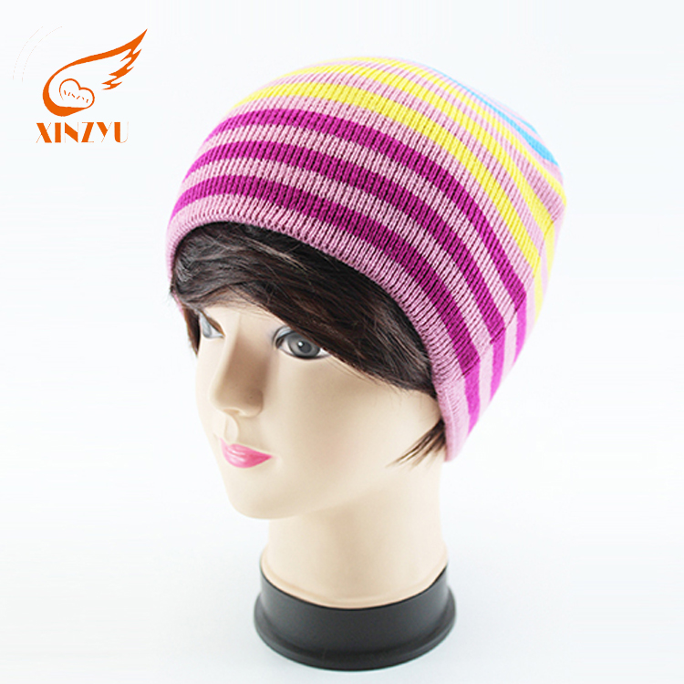Customized Warm Ski Mask Hat Knit Pattern Muslim Knitted Caps