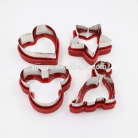 Cookie Tool Type 4 pcs Set Christmas Silicone Cookie Cutter/ Cute Silicone edged Stainless Steel Cookie Cutter