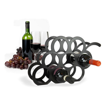 stylish decorative metal wine rack laser cut metal wine bottle holder - Metal Wine Rack