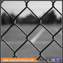 Ground chain link net for sports field frame material playground fence
