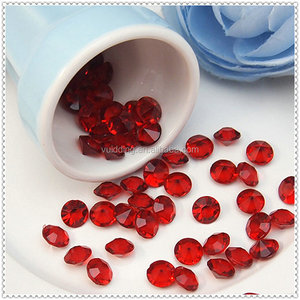 Acrylic Ruby Crystals Diamond Confetti For Appointment Decoration