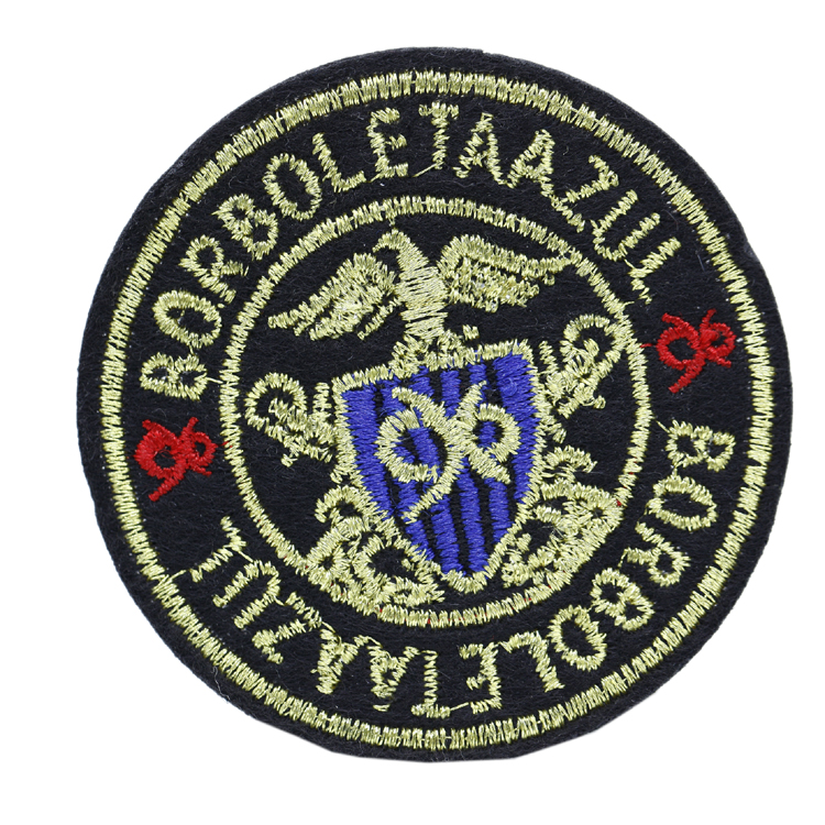 Personalized Design Private Label Embroidered Badge Embroidery Patches with Custom Logo