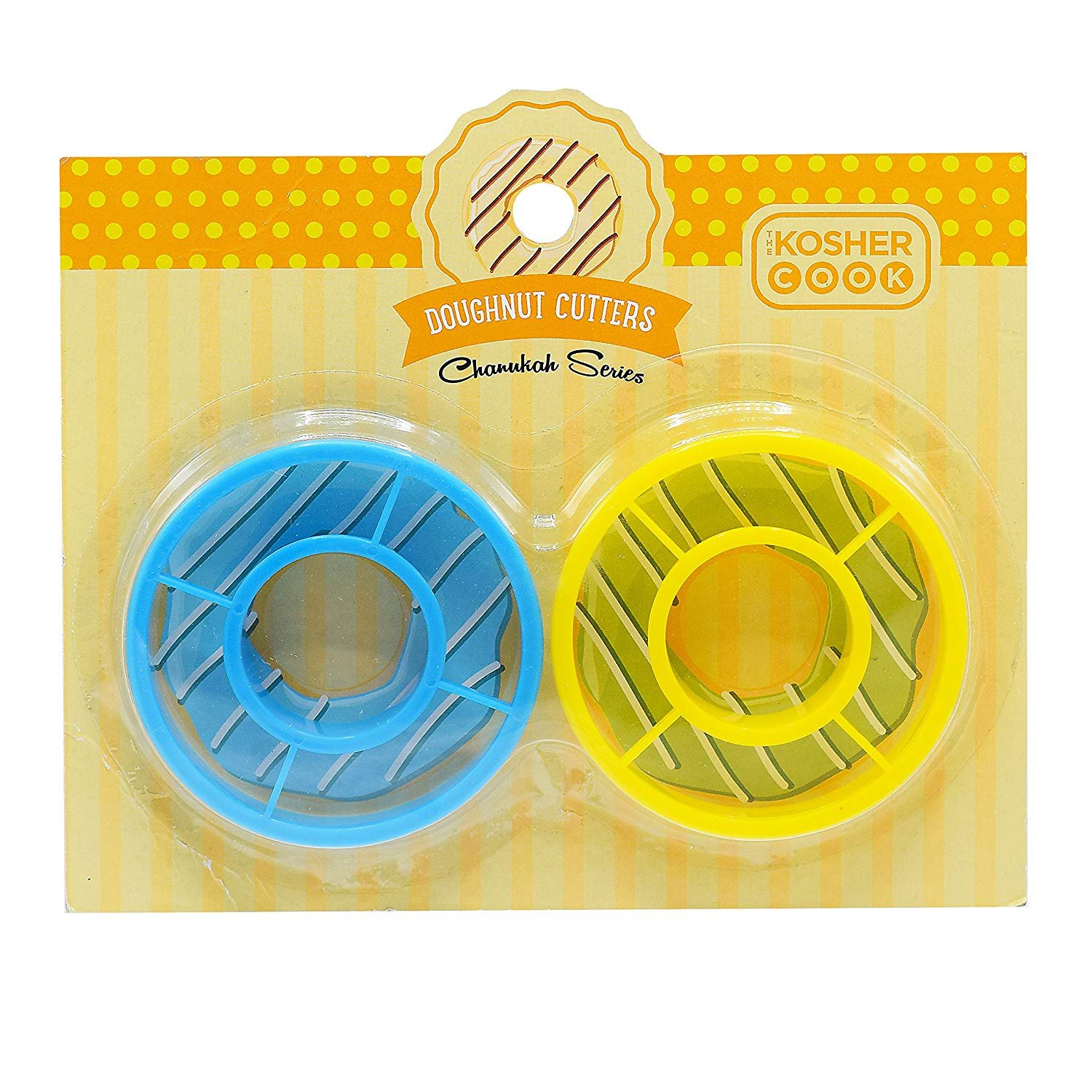 """4/"""" Tin Plated Steel Donut Cutter with Handle Fox Run Cookie Cutter 4-Pack"""