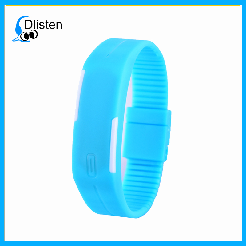 Cheapest digital silicone bracelet watch silicon led wrist watch for man, women and child