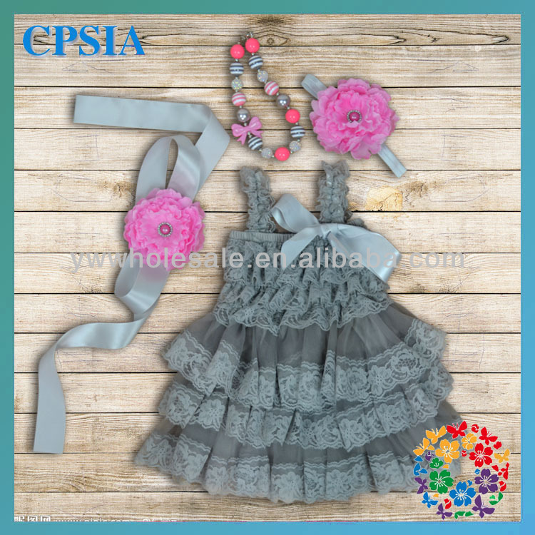 Hot Sale New Fashion Lace Baby Girl Princess Dress Fit Party Wear