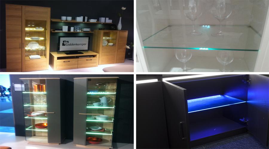 High Quality Aluminium Led Kitchen Glass Shelf Light Plastic Glass ...