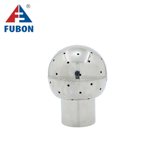 Stainless steel Sanitary internal thread fixed Cleaning Ball