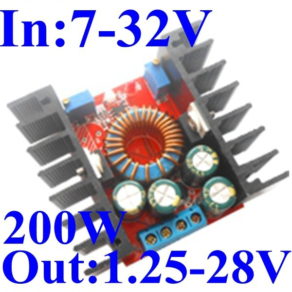 dc-dc step down adjustable power supply module CC CV 24v to 12v converter 10A