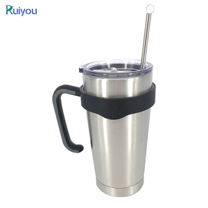 Custom Stainless Steel Double Wall Vacuum Insulated Thermo Travel Mug Drink Tumbler With Straw