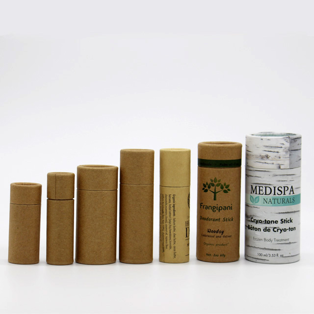 Custom Printed Creative Round Kraft Paper Tube Packaging For Food Packaging
