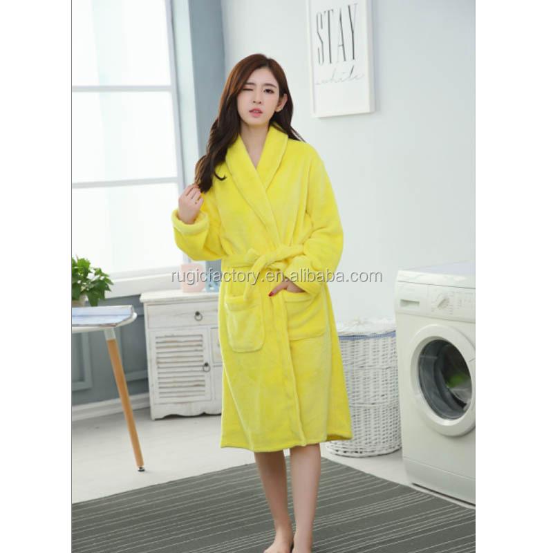 63d6ad0b0b Flannel Bathrobe For Women