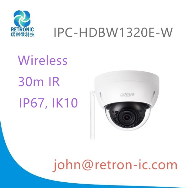 Dahua brand IPC-HDBW1320E-W 3MP dome IP camera 30m IR LED IP67 waterproof IK10 vandal proof iphone APP support ip camera