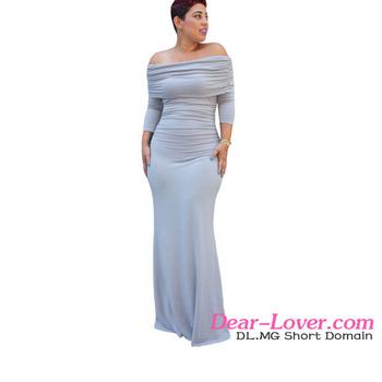 Wholesale Sexy Womens Plain Off-shoulder Long Maxi Dress - Buy ... 53e07b4cfc