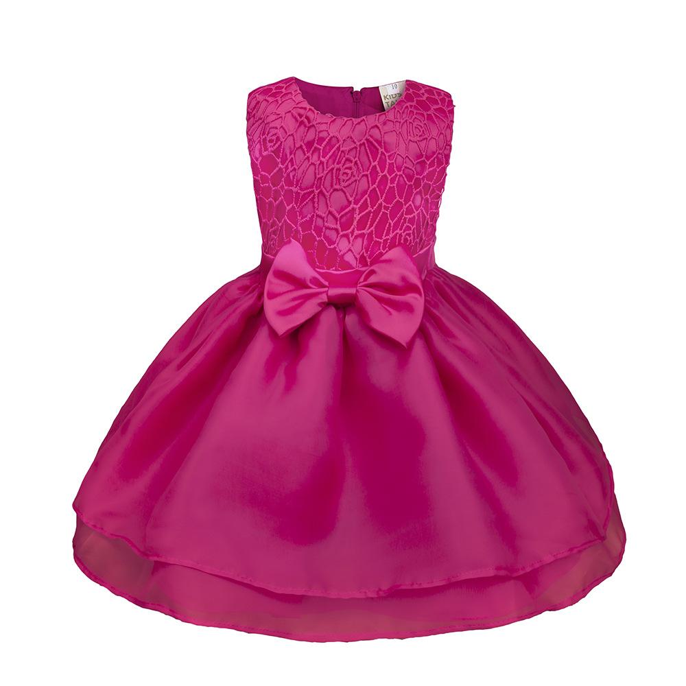 Princesa flor niñas vestido Verano 2017 fiesta de cumpleaños de la ...