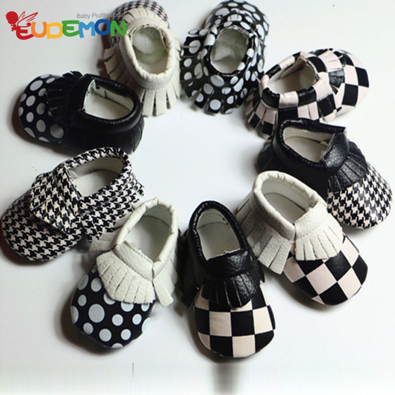 So fashion PU baby shoes NEW DESIGN baby moccasins Soft Sole Skid baby leather shoes tassel