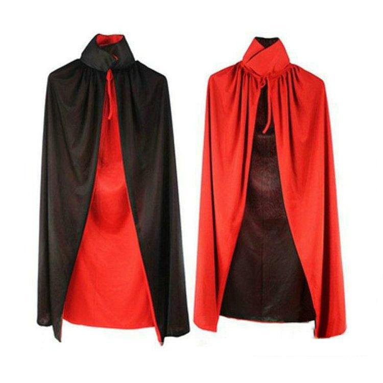 Children Boys Girls Halloween Cosplay Costumes Party Cos Cape Death Cloak Stand Collar Cloak For Adults and Kids Trench HC25