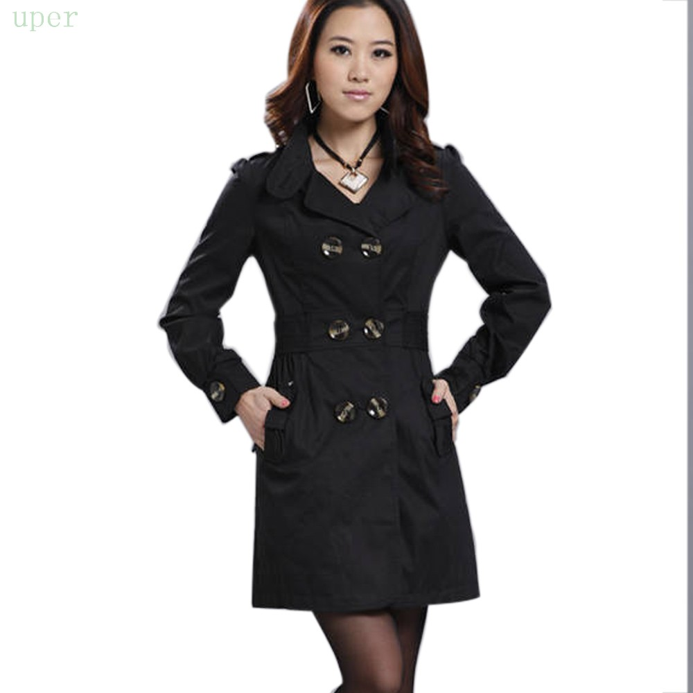 e50194e5a4d Get Quotations · 2015 New Arrival Fashion Womens Slim Fit Trench  Double-breasted Stylish High Quality Coat Outwear