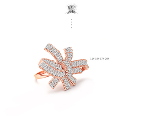 Bridesmaid zircon rose gold ring
