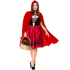 women sexy cosplay little red riding hood fantasy game uniforms halloween costumes fancy dress plus size