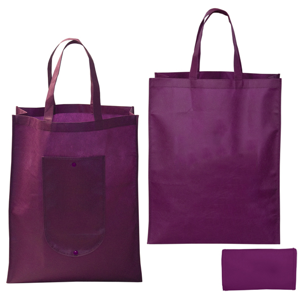 Custom Design Cheap Reusable Recycled Fold Non-Woven Shopping Bag