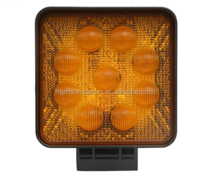 27W 5D Yellow Square Work Light Bar Led Driving Light IP67 2880LM for Tractor Boat Off Road 4WD 4x4 Truck Tralier mining