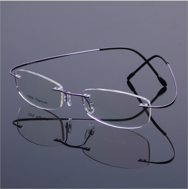 Sin montura titanio gafas hombres memoria gafas de Marcos-Molduras ...