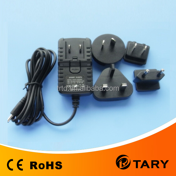 24W manual voltage switch Universal 12v 2a power adapter interchangeable