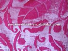 2012 colourful dyed heavy embossed velvet for curtain