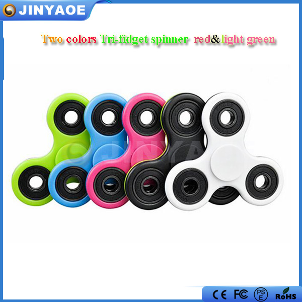 Custom latest design tri toy hand colorful fidget spinner glow spinner
