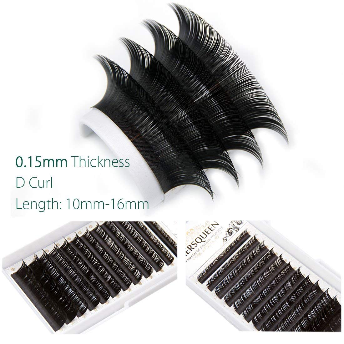 de37c81240a Get Quotations · Individual Eyelash .15 C Curl D Curl Professional Salon  Tray Silk Lash Russian Volume Lash