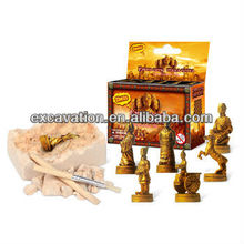 DIG IT OUT! Terra Cotta Warriors Chess Set Dig Kit, 6 assorted, archaeology excavation toys